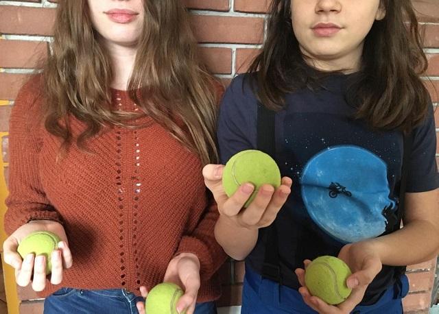 Tělocvična - žonglování